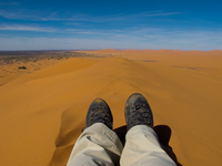 view--hiking on erg chebbi Merzouga, Sahara, Morocco, Africa