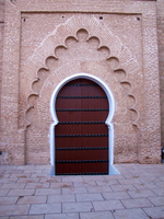 koutoubia mosque entrance Casablanca, Marrakesh, Imperial City, Morocco, Africa