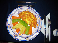 view--vegeterian omelet at totmaroc Tinhir, Merzouga, Todra Gorge, Morocco, Africa
