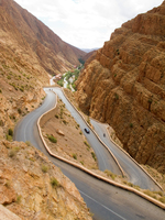 view--road to hotel timzzillite Dades Valley, Morocco, Africa