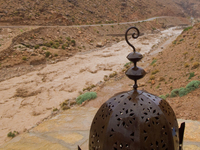 view--flash flood Boumalne, Tinghir, Dades Valley, Todra Gorge, Morocco, Africa