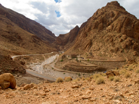 view--after the flood La Festival, Todra Gorge, Morocco, Africa