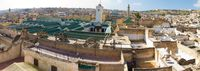 view--fez grand mosque Fez, Imperial City, Morocco, Africa