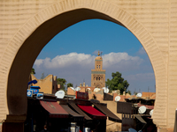 view--koutoubia mosque Marrakech, Imperial City, Morocco, Africa