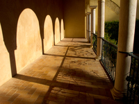 view--corridor to garden of troy Seville, Andalucia, Spain, Europe