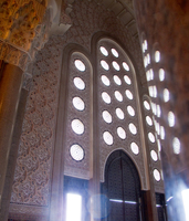 view--hassan ii mosque window Casablanca, Marrakesh, Imperial City, Morocco, Africa
