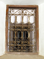 iron window of marraech Marrakech, Interior, Morocco, Africa
