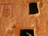 mug windows in ait ben haddou Ouarzazate, Interior, Morocco, Africa