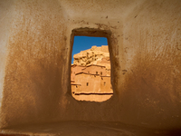 view--kasbah window Ouarzazate, Interior, Morocco, Africa