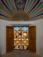 view--colorful window Ouarzazate, Interior, Morocco, Africa