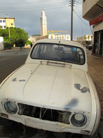 car near grand mosque Casablanca, Marrakesh, Imperial City, Morocco, Africa