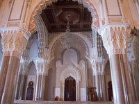 white columns from italy Casablanca, Marrakesh, Imperial City, Morocco, Africa