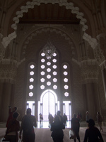 windows from hassan ii mosque Casablanca, Marrakesh, Imperial City, Morocco, Africa