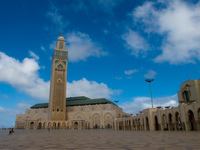 hassan mosque full picture Casablanca, Marrakesh, Imperial City, Morocco, Africa