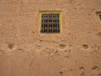 beehives under windows Boumalne, Dades Valley, Morocco, Africa