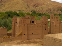 mud castle view Ait Arbi, Dades Valley, Morocco, Africa
