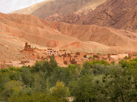 mock castle Ait Arbi, Dades Valley, Morocco, Africa
