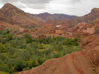berber village in dades valley Ait Arbi, Dades Valley, Morocco, Africa