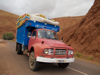 dades valley truck Ait Arbi, Dades Valley, Morocco, Africa