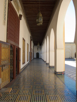 batha museum walkway Fez, Tangier, Imperial Cities, Morocco, Africa