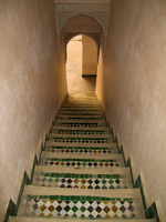 medersa cherratine fes staircase Fez, Imperial City, Morocco, Africa