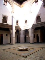 medersa cherratine fes courtyard Fez, Imperial City, Morocco, Africa