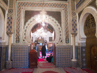 inside of fez mosque Fez, Imperial City, Morocco, Africa