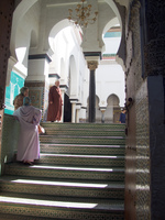 muslims believers in mosque Fez, Imperial City, Morocco, Africa