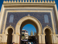 bab entrance Fez, Imperial City, Morocco, Africa