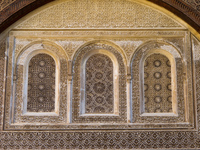 medersa el-attarine windows Fez, Imperial City, Morocco, Africa