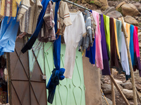 drying clothes Marrakech, Atlas Mountains, Morocco, Africa