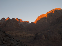 sunrise toubkal Imlil, Atlas Mountains, Morocco, Africa