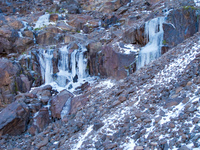 ice waterfall Imlil, Atlas Mountains, Morocco, Africa