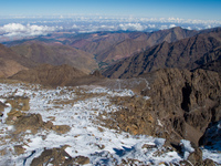 toubkal snow and ice Imlil, Atlas Mountains, Morocco, Africa