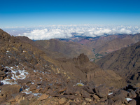 above clouds Imlil, Atlas Mountains, Morocco, Africa