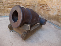 mini cannon near summer time palace Marrakech, Imperial City, Morocco, Africa