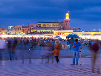 rush hour in djemaa el-fna Casablanca, Marrakesh, Imperial City, Morocco, Africa
