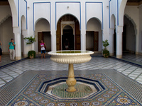 palais baha fountain Marrakech, Imperial City, Morocco, Africa