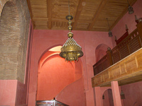 ceiling lamps of opera house Ouarzazate, Interior, Morocco, Africa