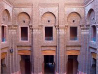 opera house windows Ouarzazate, Interior, Morocco, Africa