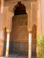 saadi tomb arch Marrakech, Imperial City, Morocco, Africa