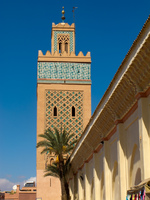 kasbah mosque minaret Marrakech, Imperial City, Morocco, Africa
