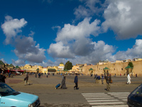 place el hdeim Meknes, Imperial City, Morocco, Africa