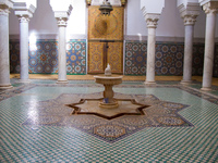 mausolee moulay ismail  water foundtain Meknes, Imperial City, Morocco, Africa