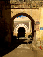 route darel kebira Meknes, Imperial City, Morocco, Africa