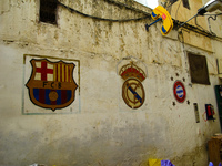 football club emblem Meknes, Moulay Idriss, Imperial City, Morocco, Africa