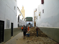 grand mousqe refurnishing Meknes, Moulay Idriss, Imperial City, Morocco, Africa