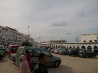 grand mosque car park Meknes, Moulay Idriss, Imperial City, Morocco, Africa