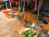 vegetable market Meknes, Moulay Idriss, Imperial City, Morocco, Africa