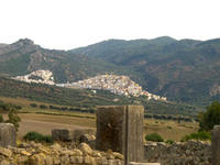 volubilis looking at moulay idriss Meknes, Moulay Idriss, Imperial City, Morocco, Africa
